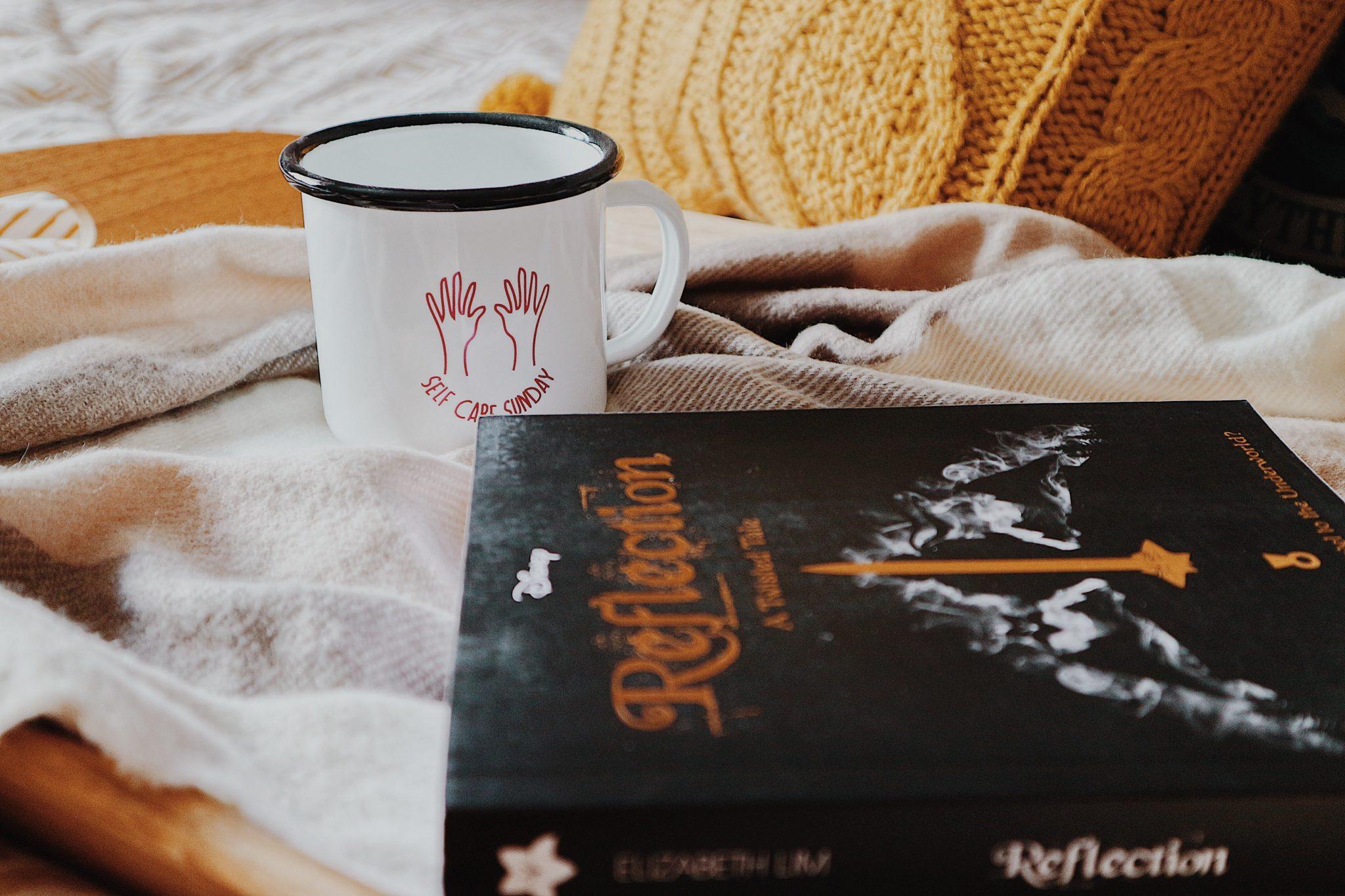 Self Care Sunday Mug + Twisted Tale: Reflection Book